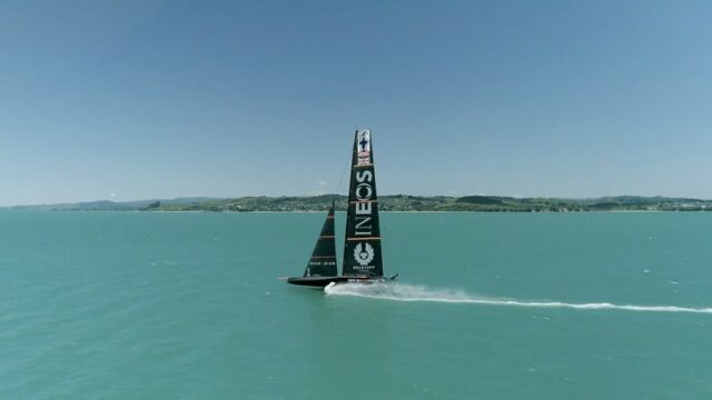 Bit of a blast today reaching top speed with @ineosteamuk on #Britannia #americascup