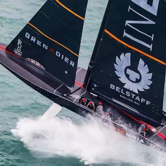 Day 2 Prada Cup final. Not our best day and highlighted by this wipeout. We'll learn from it and comeback stronger @ineosteamuk #teamwork #americascup