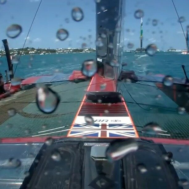 Plenty of action out here in Bermuda with @SailGP Pushed this one just too close with @SailGPUSA Plenty more action today on super Sunday @skysports 18:00 (BST)