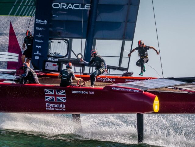 Wishing our home team @sailgpgbr all the best for the Plymouth GP this weekend #teamwork