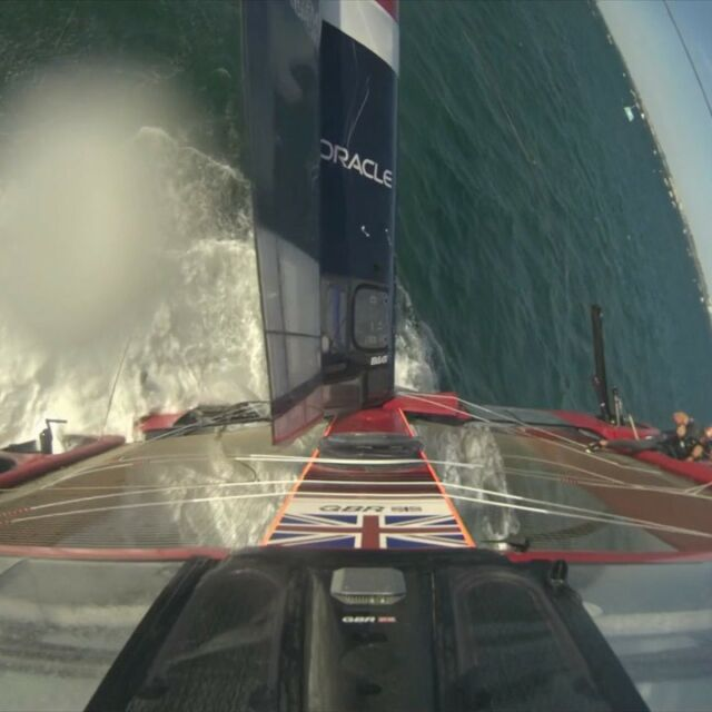 Pushing hard for the win and sent it over the top @sailgpgbr @sailgp #damnit #fullon